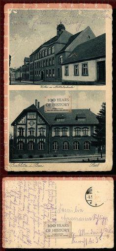 Orig. AK Bublitz Bobolice in Pommern Koszalinski Post u. Schule gel. 1930