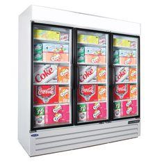 Nor-Lake 3 Glass Hinge Door Refrigerator Merchandiser (NLGRP74-HG-W)