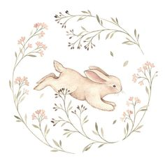 Jumpin into this Easter weekend like this little bunny 🌷. I am so happy spring is already here and I have finally started drawing, painting and improving my skills a bit. Easter Drawings, Cute Drawings, Drawing Sketches, Drawing Ideas, Bunny Drawing, Bunny Art, Drawing Flowers, Lapin Art, Easter Illustration