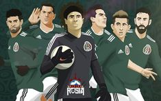 Barcelona Players, Real Madrid Players, Mexico Soccer, World Cup 2018, Action Figures, Russia, Football, Illustration, Fictional Characters