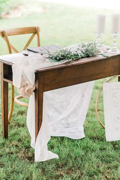 wedding ceremony signing table decor Best Picture For wedding ceremony decorations For Your Taste You are looking for something, and it is going to tell you exactly what you are looking for, and you d Farm Wedding, Chic Wedding, Wedding Table, Wedding Signing Table, Wedding Ideas, Casual Fall Wedding, 1920s Wedding, Vineyard Wedding, Wedding Pictures