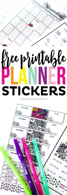 Cricut Print and Cut FREE Printable Planner Stickers - Printable Crush