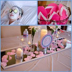 little girl spa party ideas   Spa Party: Isabella's Day Spa - Mimi's Dollhouse