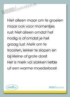Een gedicht over borstvoeding, iets waar zoveel mooie facetten aan zitten. Van de prijs van deze kaart gaat 1 euro naar Stichting Melkpunt.