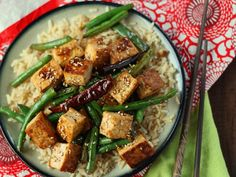Chinese Garlic Tofu Stir-Fry