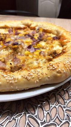 Sajttal töltött BBQ pizza