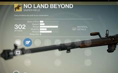 What's your thoughts on Destiny's No Land Beyond exotic sniper rifle coming with the games first expansion?
