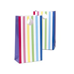 Rainbow Stripe   Paper Favor Bag