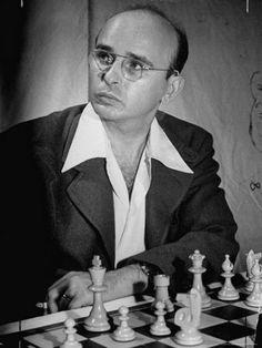 Chess Master Samuel Reshevsky  Smoking a Cigarette During the Chess Tournament