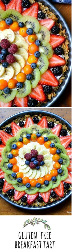 A little glam for the breakfast hour...healthy and gluten free, this fruit and…