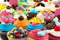 Cupcakes Happy Day para fiestas infantiles y cumpleaños