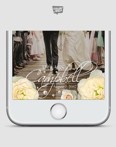 Floral Snapchat Filter WEDDING SNAPCHAT GEOFILTER Wedding