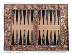 Your place to buy and sell all things handmade Backgammon Game, Corrugated Box, Inside The Box, Mosaic Designs, Metal Walls, House Painting, Black House, Board Games, Dallas