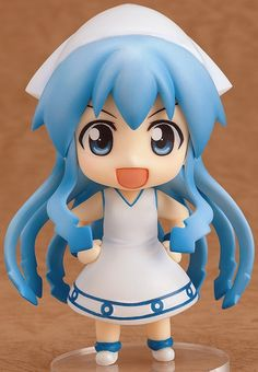 "Time to invade the Nendoroid world ~de geso! From the anime series, ""Shinryaku! Ika Musume"" comes a Nendoroid of the invader from the sea herself - Ika Musume! Otaku, Anime Chibi, Anime Manga, Vocaloid, Ika Musume, Squid Girl, Crying Face, Anime Figurines, Cute Chibi"