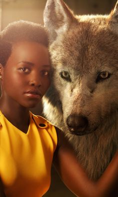 Lupita Nyong'o and the Jungle Book Cast Posing With Their Characters Will Take Your Breath Away