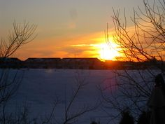 The Sunset  in Manitoba produces a view that will have you stare in awe - taken in February...can you imagine it?