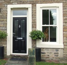 Grey composite front door - Oxford style | panel & composite door ...
