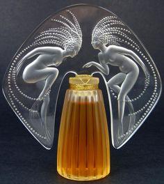René Jules Lalique | LALIQUE CRYSTAL 1998 FLACON PERFUME BOTTLE