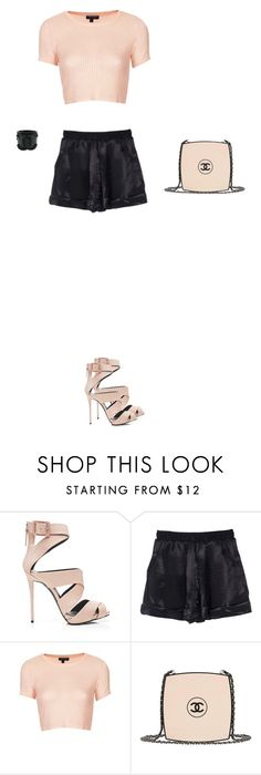 """Başlıksız #500"" by polygirlz77 ❤ liked on Polyvore featuring Giuseppe Zanotti, Topshop and Chanel"