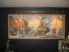 (4) Large Original Aiden Lassell Ripley Paul Revere Boston Historical Art Panel in Art, Art from Dealers & Resellers, Paintings | eBay