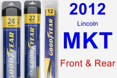 Front & Rear Wiper Blade Pack for 2012 Lincoln MKT - Assurance