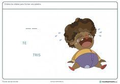 Ficha de rellenar sílabas para niños de primaria