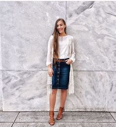 Look at this Cool teen fashion trends 1365852693 Modest Work Outfits, Casual Skirt Outfits, Preppy Outfits, Outfits For Teens, Fall Outfits, Cute Outfits, Church Outfits, School Outfits, Sunday Outfits