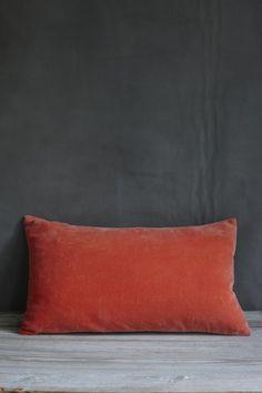 Coral Velvet Cushion - Add a dash of coral to your colour scheme   velvetcushions www 7b5b0ecda