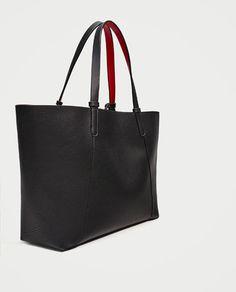 SHOPPER REVERSIBLE-Bolsos grandes-BOLSOS-MUJER | ZARA España Reversible Tote Bag, Zara Official Website, Birthday Wishlist, Shopper, Zara Women, Large Bags, Bag Accessories, Personal Style, Handbags