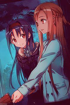 Sword Art Online - Asuna and Konno Yuuki