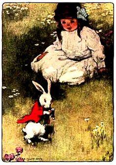"""""""Alice In Wonderland"""" by Bessie Pease Gutmann (1907)"""