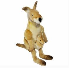 HANSA Kangaroo and Joey Plush Stuffed Animal Tan Brown Toy Boy Girl #HANSA Plush Animals, Toys For Boys, Kangaroo, Scooby Doo, Im Not Perfect, Fox, Beige, Brown, Ebay