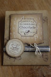 different colors: chocolat stamps