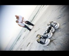 family beach photos ideas: one more pair of chucks for my family of 4!
