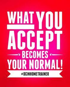 What you accept becomes your normal! #fitnessmotivation #dcinhometrainer #vegan #washingtondc #personaltrainer