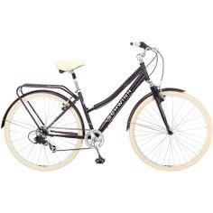 I got this bike today! Schwinn 700c Ladies' Errand Hybrid Bike its a cruiser with handle brakes and it's dark purple and cream.