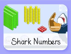 Shark Numbers learning games for early finishers in the computer lab Literacy Games, Learning Games, Math Games, Place Value Games, Game Place, Math Division, Long Division, Math Boards, Framed Words