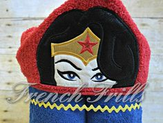 5x7 Amazing Woman 3D hooded towel design