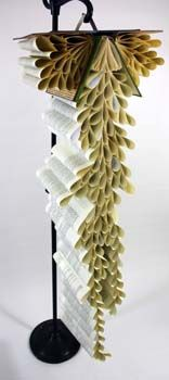Recycled books from our library.  Art  Three students, Lakeridge High School.  http://lhs.loswego.k12.or.us/z-mcbrides/