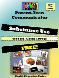 Tobacco / Alcohol / Drug Parent -Teen Homework FREE!