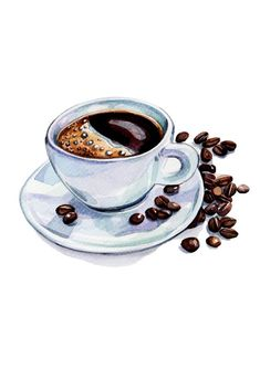Pix For Coffee Cup Watercolor Paintings.