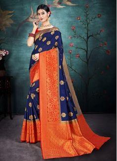 Chic Silk Contemporary Saree Trendy Sarees, Fancy Sarees, Banarasi Lehenga, Silk Sarees, Indian Designer Sarees, Net Saree, Traditional Sarees, Embroidered Silk, Saree Wedding