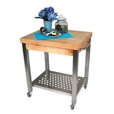 Found it at Wayfair - Cucina Americana Kitchen Cart with Wood Top
