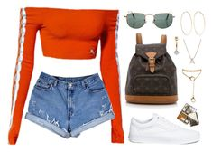 A fashion look from February 2018 featuring levi shorts, vans sneakers and hoop earrings. Browse and shop related looks. Cute Swag Outfits, Cute Comfy Outfits, Edgy Outfits, Retro Outfits, Summer Outfits, Teen Fashion Outfits, Girl Outfits, Mode Kpop, Mode Streetwear