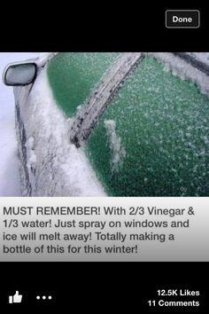 Defreeze the windows in winter
