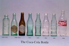 Coca Cola bottles through the years