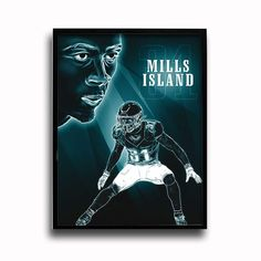 Philadelphia Eagles Jalen Mills Mills Island 24x18 Football Poster