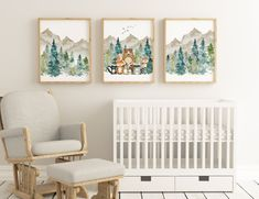 Woodland Nursery Prints, Woodland Animal Nursery, Woodland Nursery Decor, Forest Nursery, Animal Theme Nursery, Whimsical Nursery, Woodland Animals, Boy Nursery Themes, Nursery Room