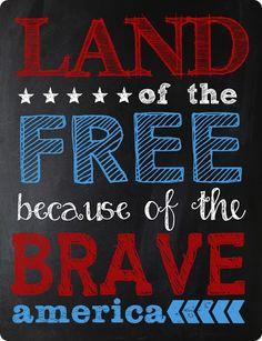 Fourth of July Chalkboard Printable my dad on veterans' day Happy Fourth Of July, 4th Of July Party, July 4th, Free Chalk Font, Chalk Fonts, Fourth Of July Chalkboard, Favorite Holiday, Holiday Fun, Holiday Ideas