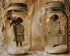 Snow dust faerie jars by Nancy Maxwell James at sugarlumpstudios.com.  So sweet and so simple, love them!
